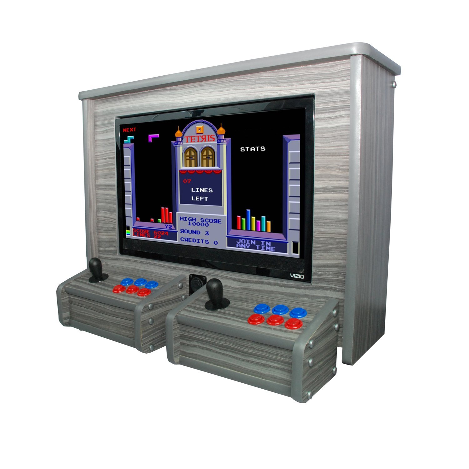 Arcade Machine Wall Hang - 620 Games - Whitewash Woodgrain