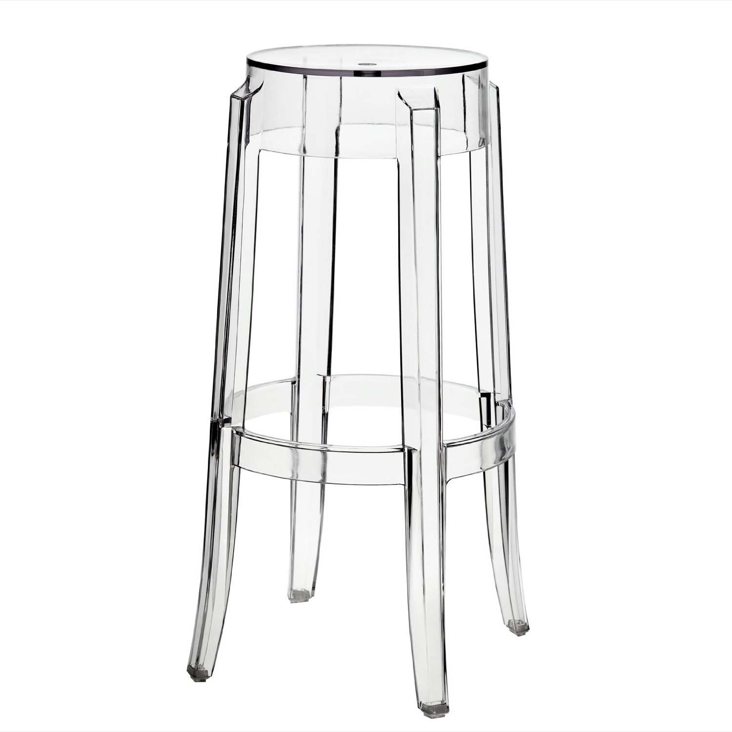 LexMod Philippe Starck Style Charles Ghost Bar Stool (set of 2)