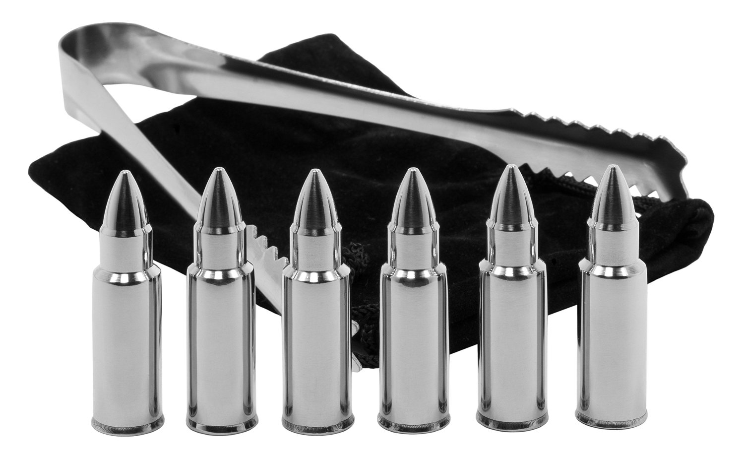 Stainless Steel Bullet Shaped Whiskey Stones