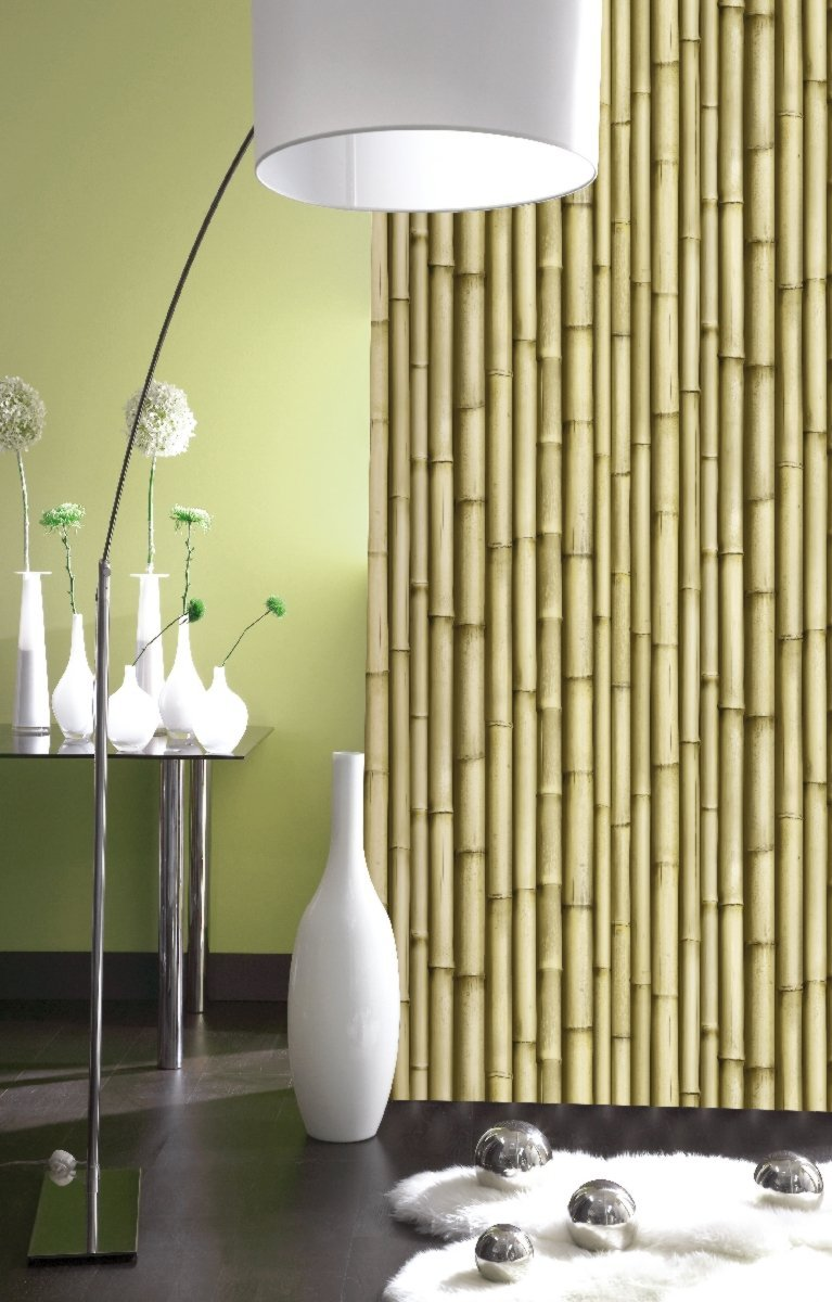 Galerie washable feature wallpaper bamboo effect