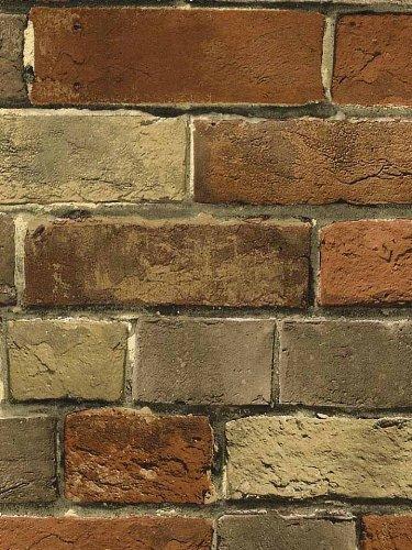 Wallpaper Faux Rust Tuscan Brick Wall