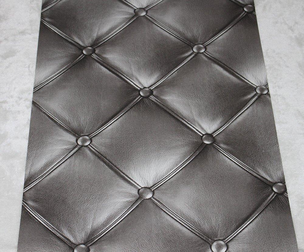 Dark Grey 3D Leather textured wallpaper