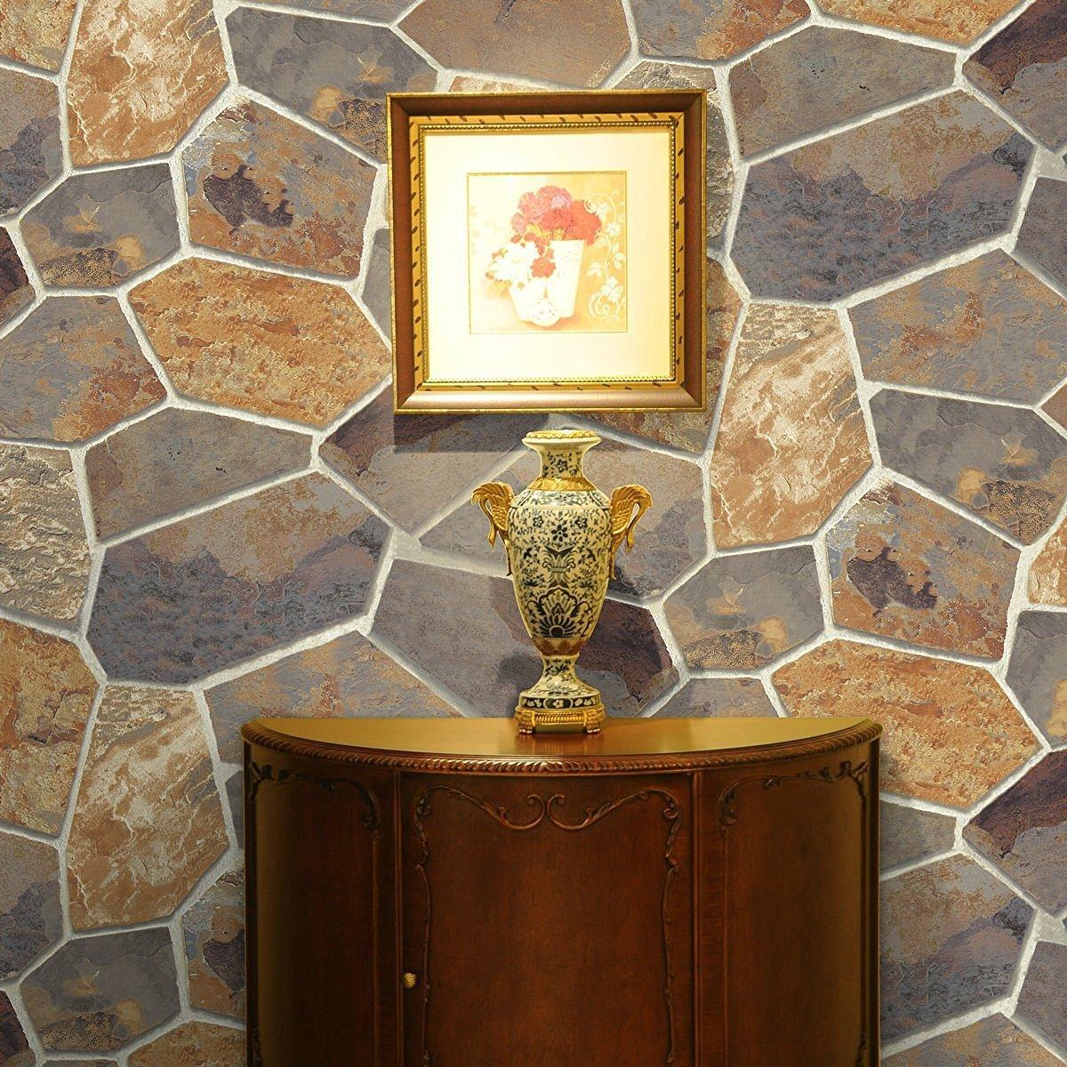 Hot Memory 3D Vintage Embossed Stone Brick