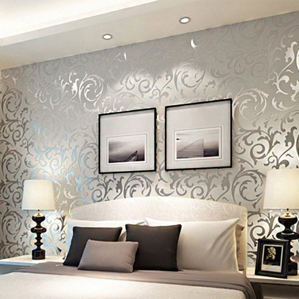 Print Embossed Non-Woven 3D Home Decor Wallpaper